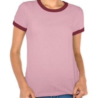 Rosa/t-shirt original vermelho da campainha da camiseta