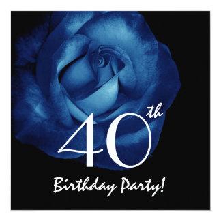 Rosa V210 dos azuis marinhos do aniversário de 40