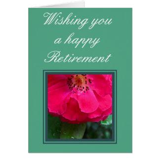 Rosa vermelha cartão comemorativo