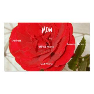Rosa vermelha da mamã cartão de visita