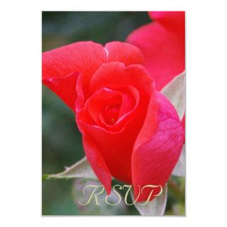 Rosa vermelha de Quinceanera RSVP Convite 8.89 X 12.7cm