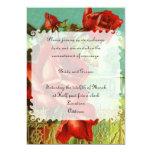 Rosa vermelha do vintage convite personalizados