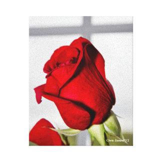 Rosa vermelha dos namorados impressão em tela