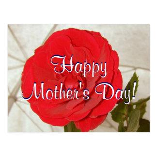Rosa vermelha feliz do dia das mães mim