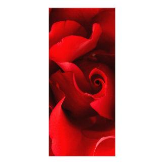 Rosa vermelha - os rosas personalizaram o modelo 10.16 x 22.86cm panfleto