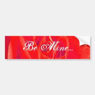Rosa vermelha vermelha lindo adesivo para carro