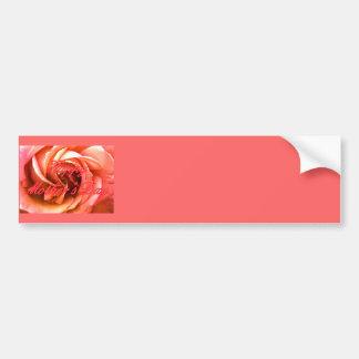 Rosa vermelho do rosa do dia das mães feliz o MUSE Adesivo Para Carro