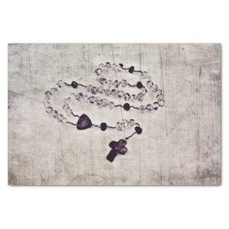 Rosário católico papel de seda