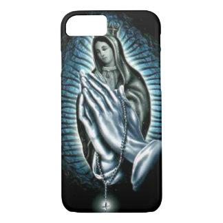 Rosário roxo abençoado da oração da Virgem Maria Capa iPhone 7