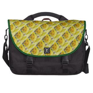Rosas amarelos maletas para laptop