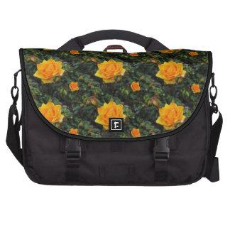 Rosas amarelos pasta para laptop