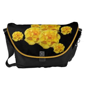 Rosas amarelos bolsas mensageiro