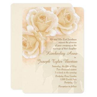 Rosas amarelos & convite do casamento do eucalipto