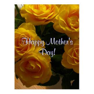 Rosas amarelos do dia das mães feliz