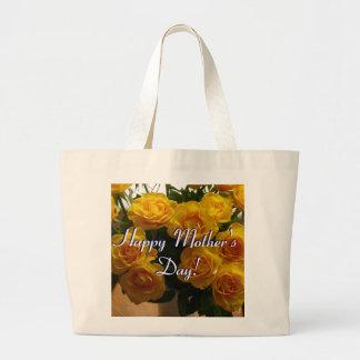 Rosas amarelos do dia das mães feliz bolsas