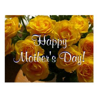 Rosas amarelos do dia das mães feliz mim