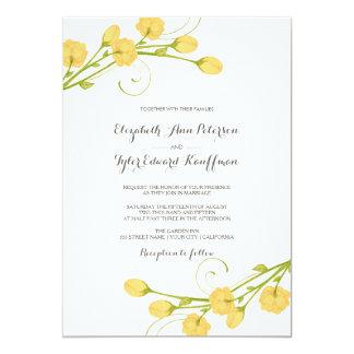 Rosas amarelos do jardim - convite do casamento