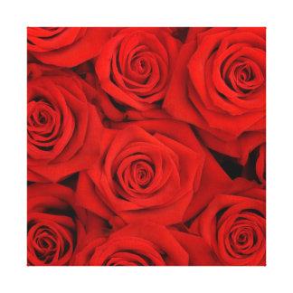 Rosas Arte-Vermelhos da parede das canvas