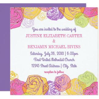 Rosas artísticos - convite do casamento