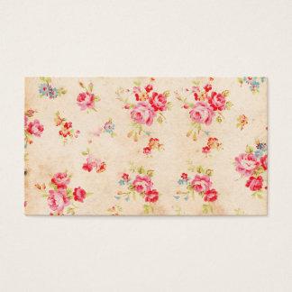 Rosas azuis cor-de-rosa femininos do chique do cartão de visitas