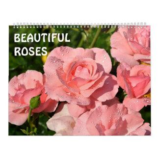 rosas bonitos de 12 meses calendário