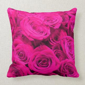 Rosas cor-de-rosa almofada