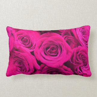 Rosas cor-de-rosa almofada lombar