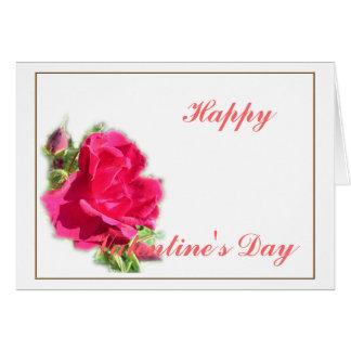 rosas cor-de-rosa, feliz dia dos namorados cartão comemorativo