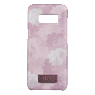 Rosas cor-de-rosa femininos da aguarela capa Case-Mate samsung galaxy s8