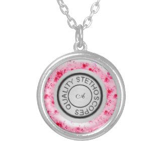Rosas cor-de-rosa gastos do estetoscópio da qualid bijuterias personalizadas