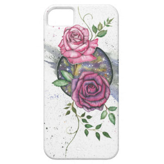 Rosas cor-de-rosa no espaço, capas de iphone