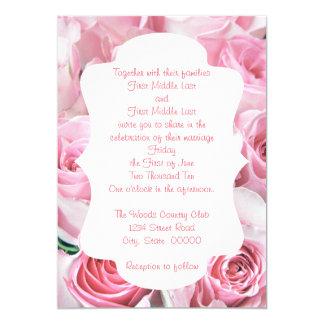 Rosas cor-de-rosa que Wedding convites