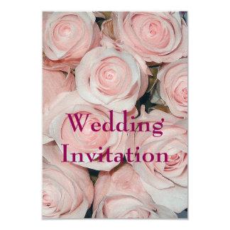 Rosas cor-de-rosa que Wedding o convite