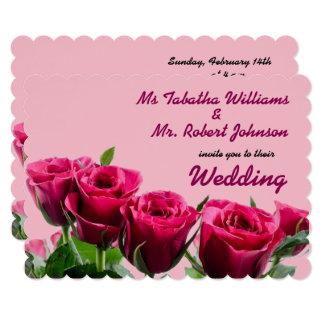 Rosas cor-de-rosa românticos que Wedding o convite