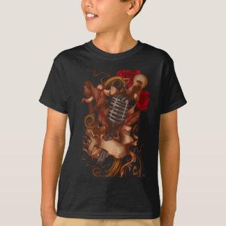 rosas da arte da guitarra tshirt