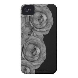 Rosas de Black&White Capa Para iPhone 4 Case-Mate