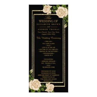 Rosas de canto chiques elegantes do marfim que panfleto