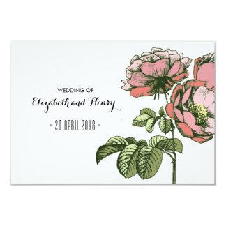 Rosas de florescência que Wedding cartões dos