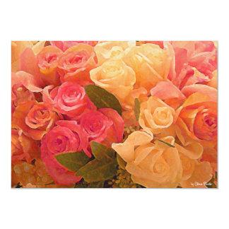 Rosas de Love_Invitation Convite 12.7 X 17.78cm