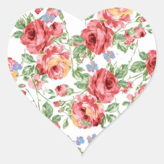 Rosas dispersados por BobCatDesign Adesivo Coração