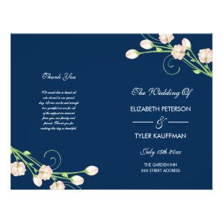 Rosas do jardim do vintage - programa do casamento flyer 21.59 x 27.94cm