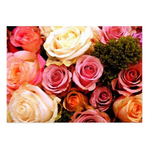 Rosas do love_ cartão de visita grande