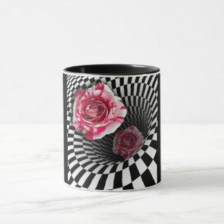 Rosas do peppermint da caneca dois no design do