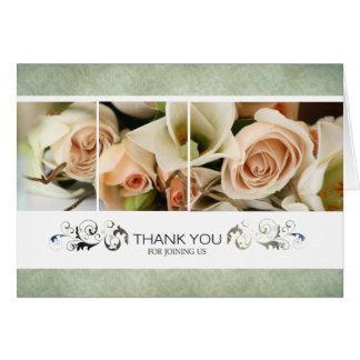 Rosas do pêssego que Wedding o obrigado você cartõ Cartão Comemorativo