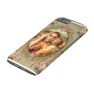 Rosas do rosário de Jesus da criança de Madonna da Capa Barely There Para iPhone 6