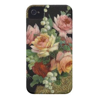 Rosas do vintage capa para iPhone 4 Case-Mate