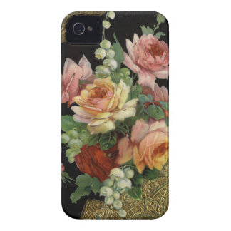 Rosas do vintage capinha iPhone 4