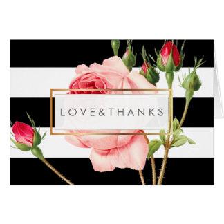 Rosas do vintage de PixDezines/Redoute/obrigado Cartão De Nota