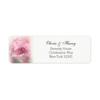 Rosas do vintage que Wedding etiquetas de endereço