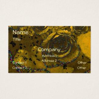 Rosas dourados do brilho cartão de visitas